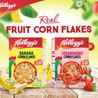 Kelloggs Corn Flakes Banana & Strawberry 180 g - Banana