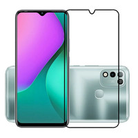 INFINIX HOT 10 PLAY TEMPERED GLASS 9D FULL COVER FULL SCREEN