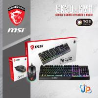 Paket Bundle Keyboard Gaming MSI Vigor GK30 + Clutch GM11 Mouse RGB