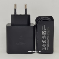 Charger Samsung 45W Travel Adapter Super Fast Charging Type C Original - Hitam