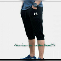Celana Jogger pendek 7/8 bahan baby Terry ukuran M_XXL