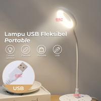 Lampu Meja Belajar LED USB Portable Lampu Baca Mini Flexible