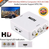 HD Video Converter HDMI to AV RCA Converter Adapter High Quality