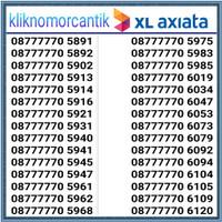 Nomor cantik XL 4G seri 7777 Hoki
