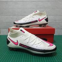 Sepatu Bola Nike Phantom GT Elite Dinamic White Pink FG