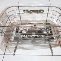 Keranjang Belanja Depan Motor Honda C70 - Coating Chrome