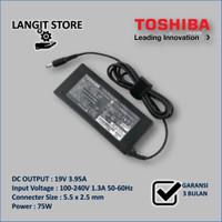 ORIGINAL Adaptor Charger Laptop TOSHIBA 19V 3.95A Satellite A100 A105