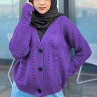 cardigan outer luaran baju wanita hangat cardy knit rajut cardi polos