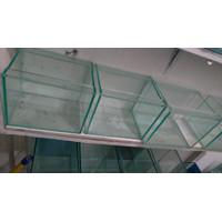 Aquarium NanoTank Aquascape L 20 T 15 cm kecil Mini Cupang KACA Polos
