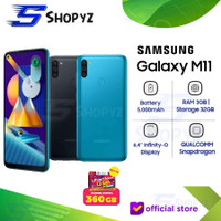 SAMSUNG GALAXY M11 - 5000mAh Battery 3GB 32GB 3/32 Garansi Resmi SEIN