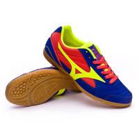 Sepatu futsal mizuno original Sala Club 2 In surf the web/stabilo/biru