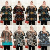 Atasan Baju Tunik Batik Mama Ibu Hamil Bumil Ukuran Super Jumbo Ld 140