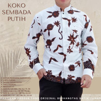 KOKO SEMBADA PUTIH Koko Batik Pria Lengan Panjang Baju Muslim Pria