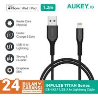 Kabel Iphone Aukey CB-AKL1 MFI USB A To Lightning 1.2M Black - 500420
