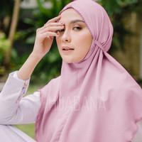 Khimar Instan Maryam Crochet/Picot Syari - Hijab Instan Bergo Crochet