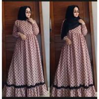 Gamis Wanita Syari Muslimah Dewasa Baju Jubah Cewek Muslim Casual Baru