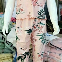 Piyama D 399 Import Baju Tidur Panjang Anak Perempuan Remaja Wanita