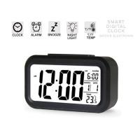 jam meja Digital plus Alarm jam meja multifungsi weker led hitam 1019