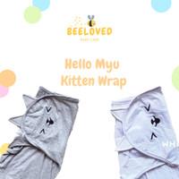 Hello Myu - Kitten Wrap - Bedong Instan Lucu - Cute Instant Baby Wrap - Dark Grey