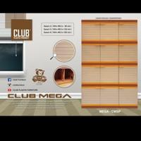 lemari plastik club' Mega 4 susun