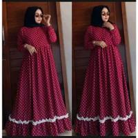 Baju Cewek Muslim Syar'i Dewasa Gamis Wanita Muslimah Maxi Dress Murah