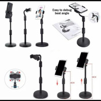 MIC STAND HOLDER - STANDING TRIPOD MOBILE PHONE - MICROPHONE HP MEJA