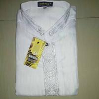 Kemeja Baju Koko Pria Putih Bordir Lengan Panjang Moerba TANPA DUS