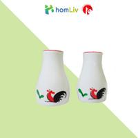 KPS-01SP Botol salt & paper /Botol bumbu dapur garam merica motif ayam