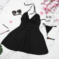 Sexy Lingerie Baju Tidur SleepWear Dress Seksi Premium Wanita - SL014
