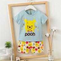 Piyama anak Perempuan/baju tidur/setelan harian Winnie The Pooh (240)