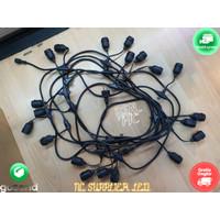 KABEL Fitting Lampu Gantung Cafe Taman Outdoor 10 20 Lampu E27 10Meter