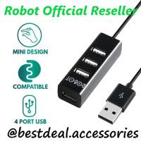 Robot 4 Port USB HUB H140-80 (Panjang Kabel 80cm) Original