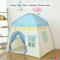 Tenda Anak House Play Tent Mainan Tenda Anak Camping Tenda Lipat RS66 - Biru