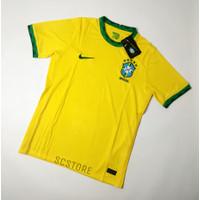 Jersey Brazil HOME 2021 Negara Baju Futsal Kaos Bola Pria Grade Ori