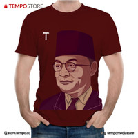 T SHIRT FOUNDING FATHER BUNG HATTA (MAROON) - LIMITED EDITION