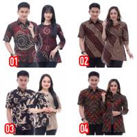 Couple batik sarimbit - Hem & Blouse (M, L, XL)
