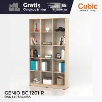 Cubic Rak Serbaguna / Buffet / Sekat Partisi Ruangan / GENIO BC 1201 R - SonomaO-White