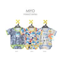 MIYO Baju Kodok Segitiga - Jumper Pendek Newborn (MIX SERIES)
