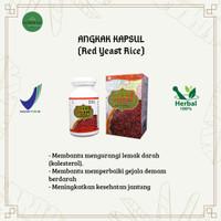 ANGKAK (Red Yeast Rice) - Obat Mengurangi Lemak Darah - Isi 60 Kapsul