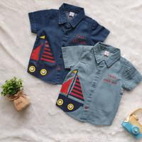 Baju Kemeja Jeans Anak Bayi Laki-laki Usia 1-3 Tahun [1TO3 - AE.671]