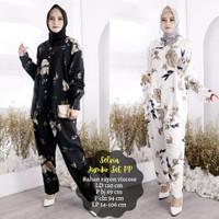 Setelan Piyama Wanita Muslim Jumbo Baju Tidur Panjang Selvia Set PP