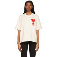 Ami Paris Alexandre Mattiussi Big Ami De Coeur T-Shirt 100% Original