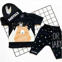 Baju setelan kaos celana anak pergi jalan lucu bestseller anak bayi