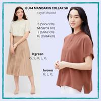 Blouse Wanita Murah GU by Uniqlo 44 Mandarin Collar Shirt