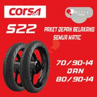 BAN LUAR CORSA PAKET MATIC 70/90-14 S22 DAN 80/90-14 S22 TUBELESS