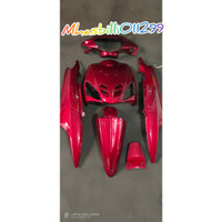 full body halus Mio sporty merah maroon non striping