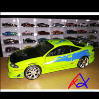 Mitsubishi eclips Brian fast and furious diecast scale 1:24 rare