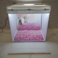 Box studio foto ukuran 32x32cm - paket dengan alas foto motif syakura - Alas foto saja
