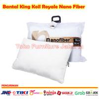 BANTAL KING KOIL NANO FIBER PILLOW KING SIZE EXTRA BESAR UK 60X90 CM