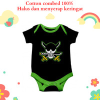 Baju jumper bayi unik lucu karakter anime zoro one piece